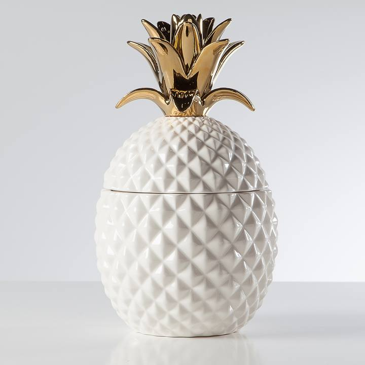 Pineapple Ceramic Canister - Cameo Collection