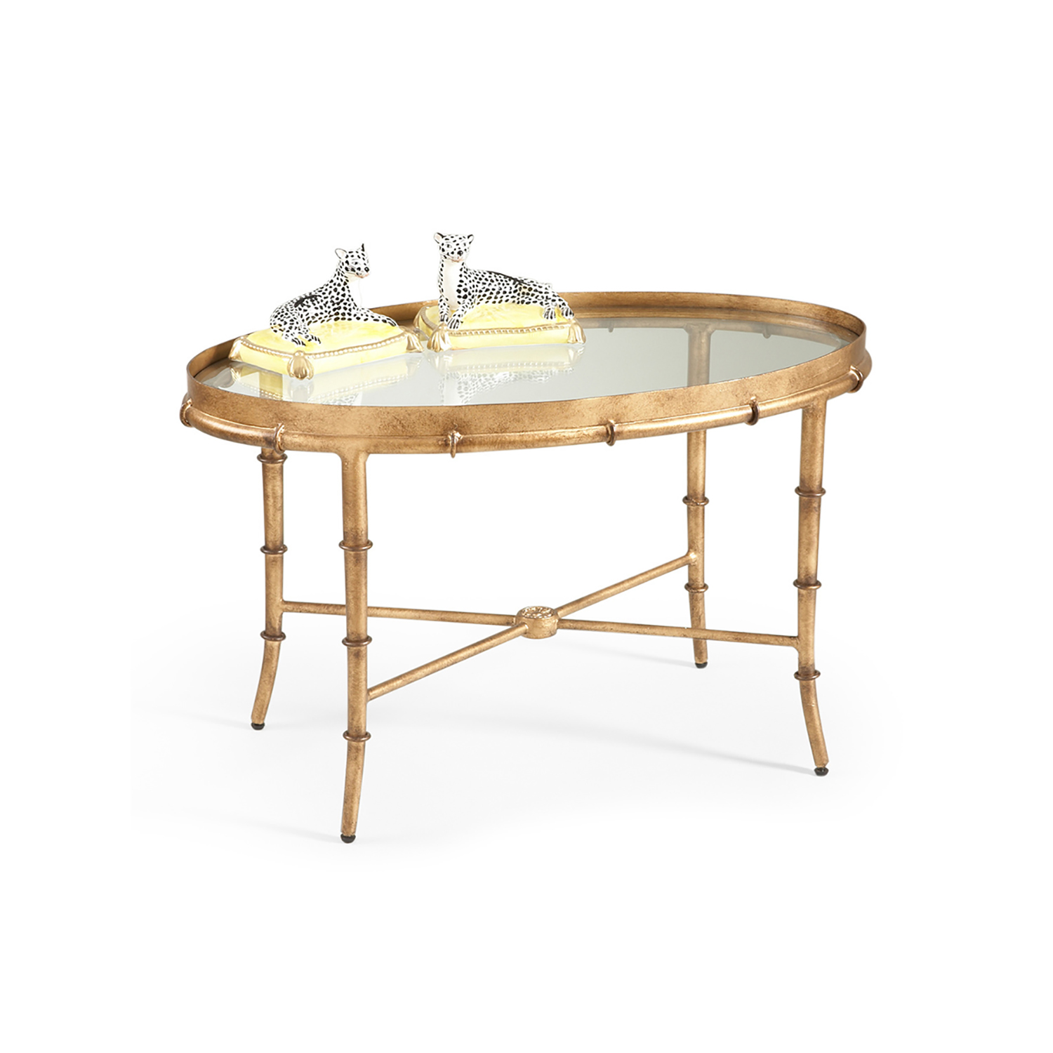Bamboo Gold Table: Gold Bamboo Cocktail Table
