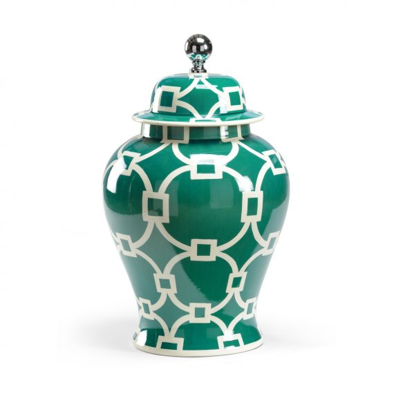 381841 Teal Covered Vase Large