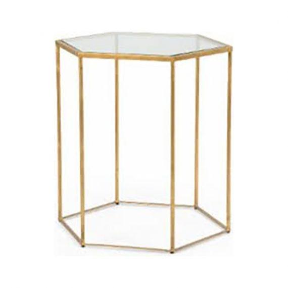 382171 Riggins Gold Side Table