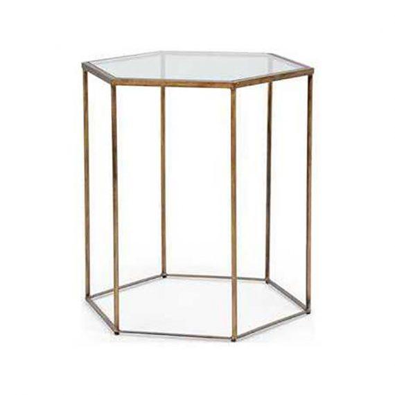 382173 Riggins Bronze Side Table