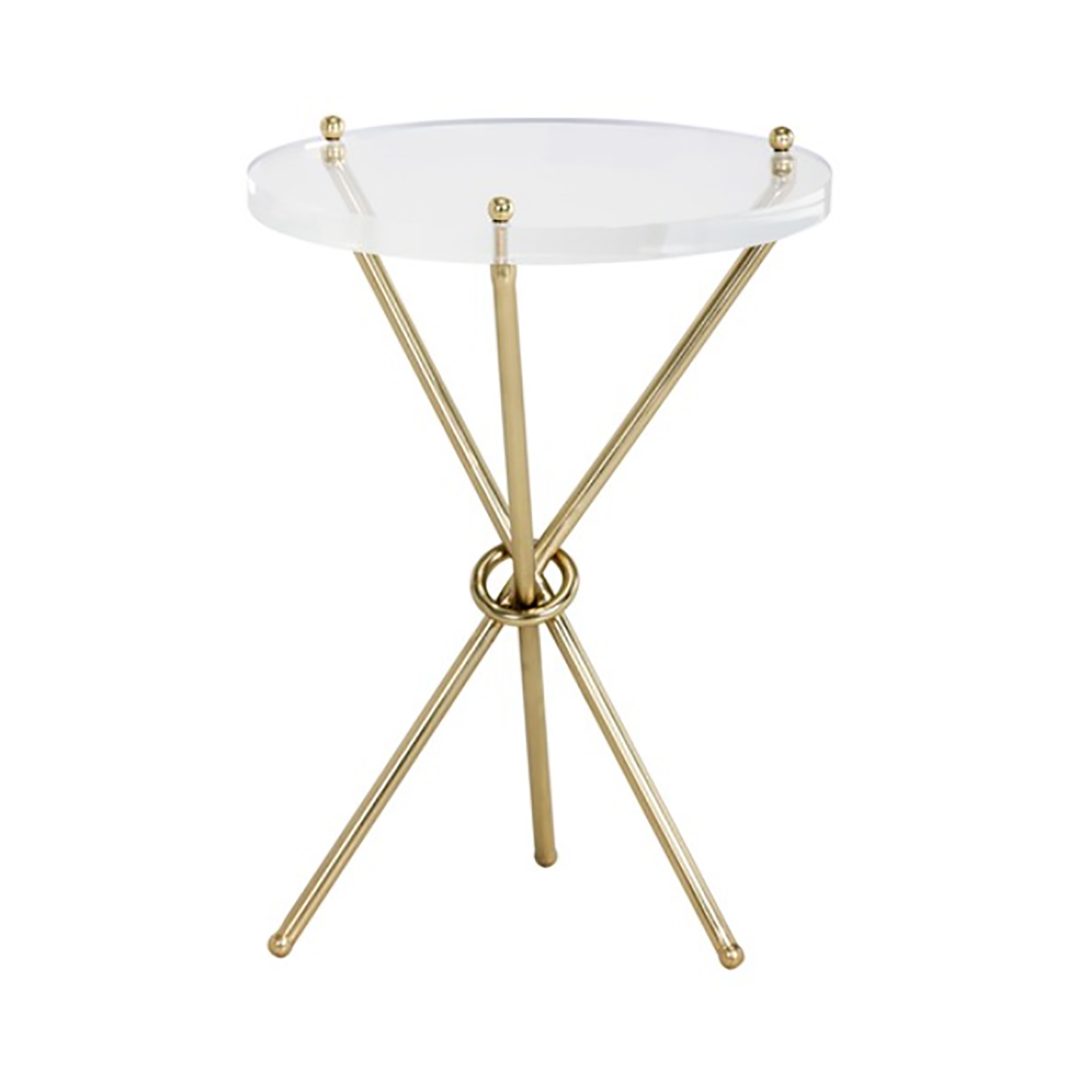 Cher Brass Side Table