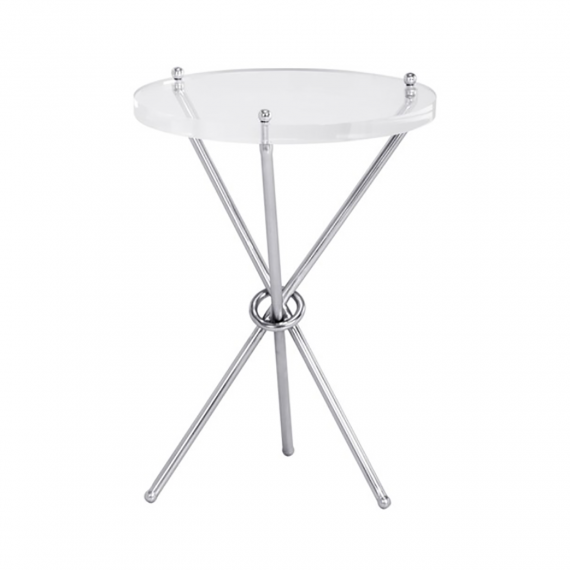 Cher Nickel Side Table