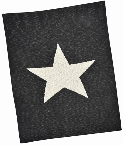 Black Star Cotton Baby Blanket