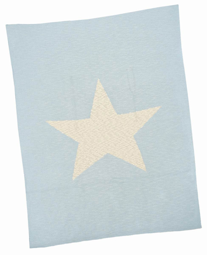 Blue Star Cotton Baby Blanket