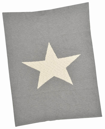 Grey Star Cotton Baby Blanket