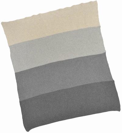 Grey Stripe Cotton Baby Blanket