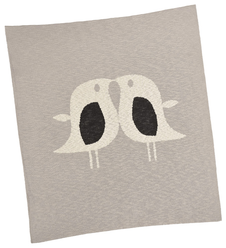 Love Birds Cotton Baby Blanket
