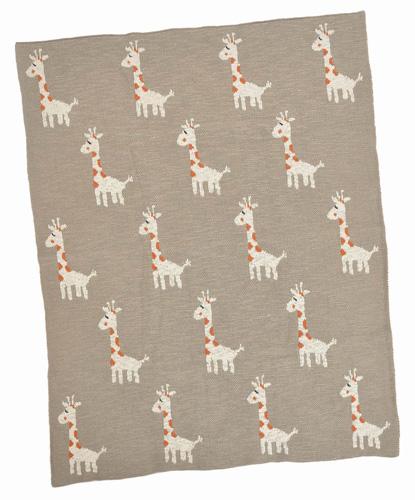 Multi Giraffe Cotton Baby Blanket