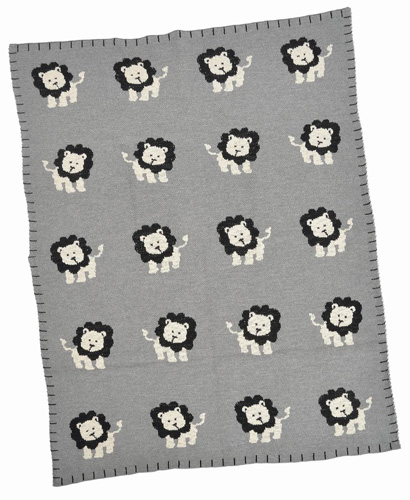 Multi Lion Cotton Baby Blanket