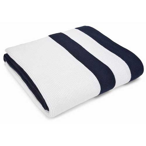 Hudson-Navy_White-Cotton-Throw