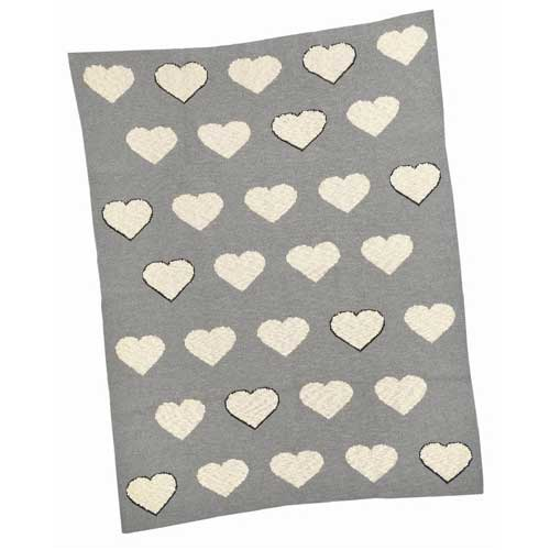 Multi-Heart-Cotton-Baby-Blanket