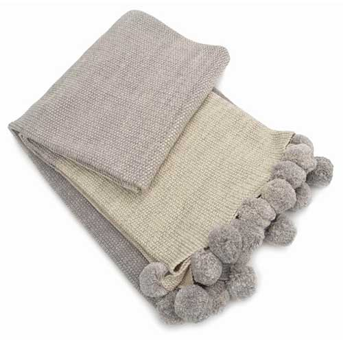 Samantha-Light-Grey-Ombre-Pom-Pom-Cotton-Throw