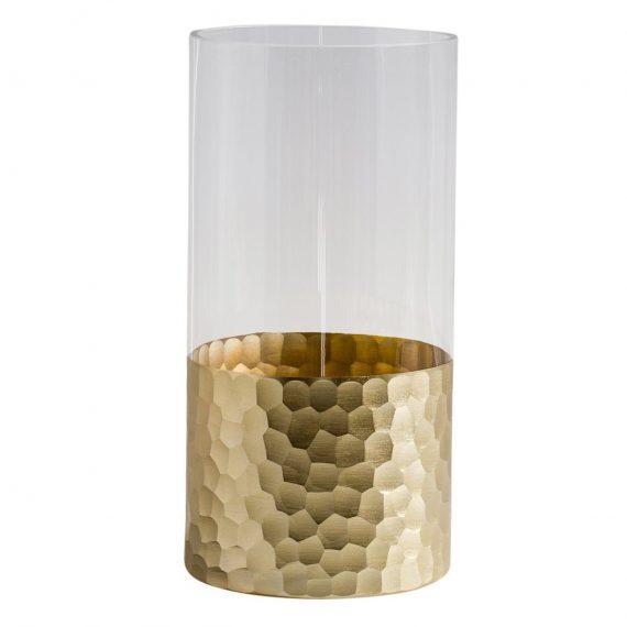 Divan cut gold hurricane vase – TT