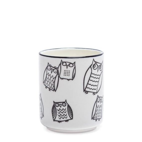 Kiri candle cup – owl outline – TT
