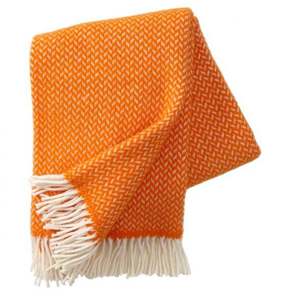 Polka Orange Throw Blanket