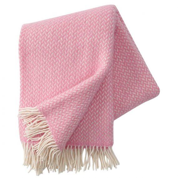 Polka Pink Throw Blanket