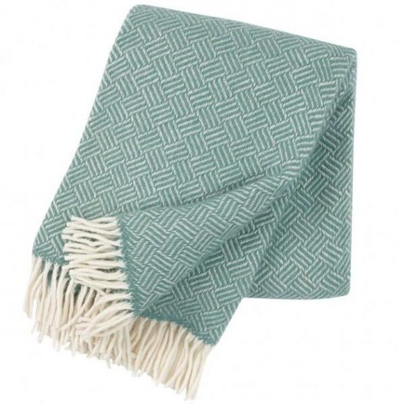 Samba Mint Wool Blanket