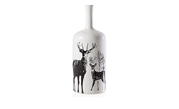 Stag tall decal vase – TT