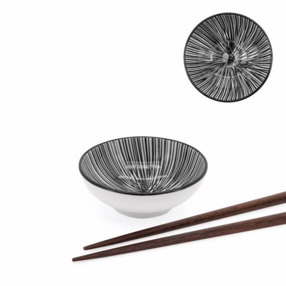 Kiri Sauce Dish – Black Line
