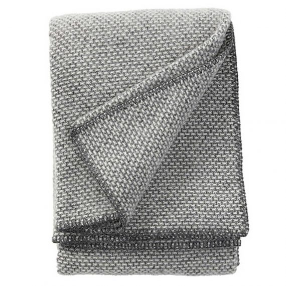 Domino-Dark-Grey-Throw-Blanket