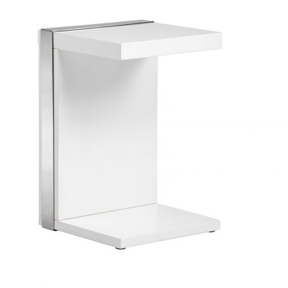 Ivy-End-Table-Brushed-Stainless-Steel