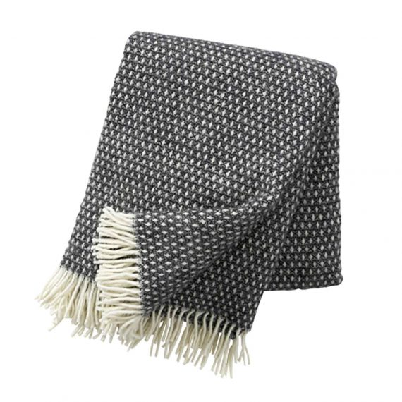 Knut-Dark-Grey-Throw-Blanket