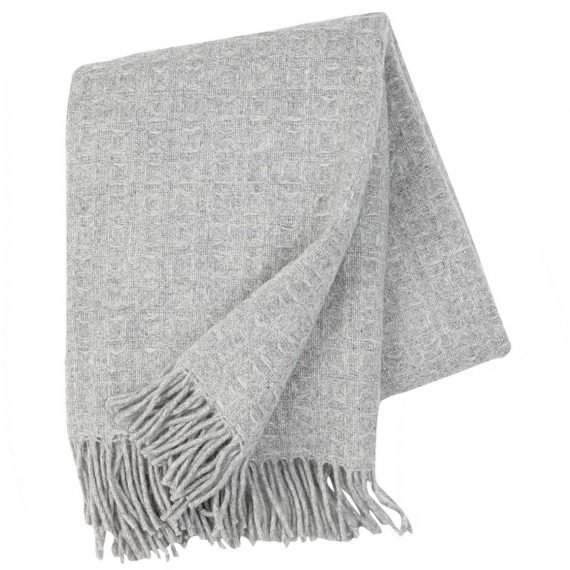 Twist-Light-Grey-Throw-Blanket