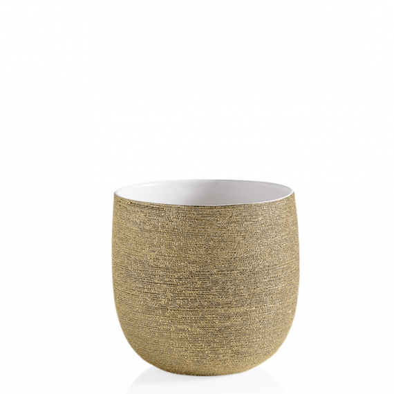 Brava Gold Spun Drop Pot Planter