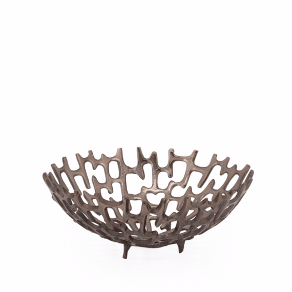Cipher 12 Decorative Bowl – Bronze