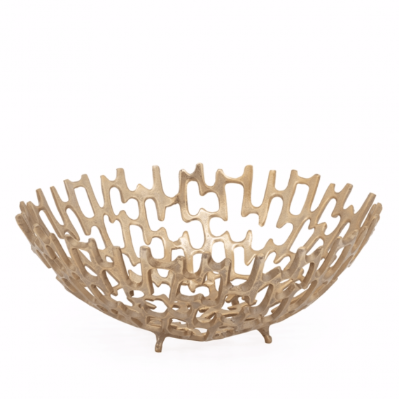 Cipher 15 Decorative Bowl – Gold