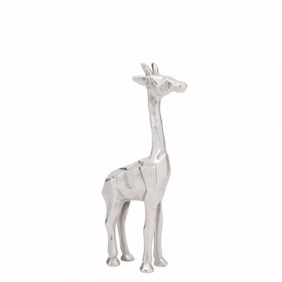 Giraffe Decorative Statue 12 – Silver