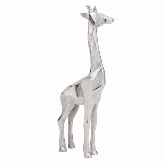 Giraffe Decorative Statue 15 Silver
