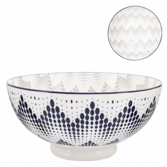 Kiri Large Bowl – Graphic Dots