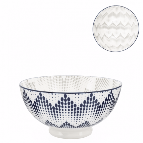 Kiri Medium Bowl – Graphic Dots