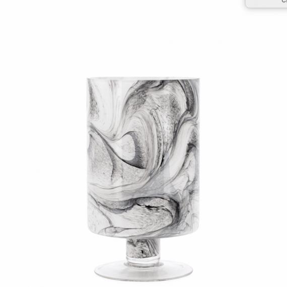 Marble Ink Swirl Vase