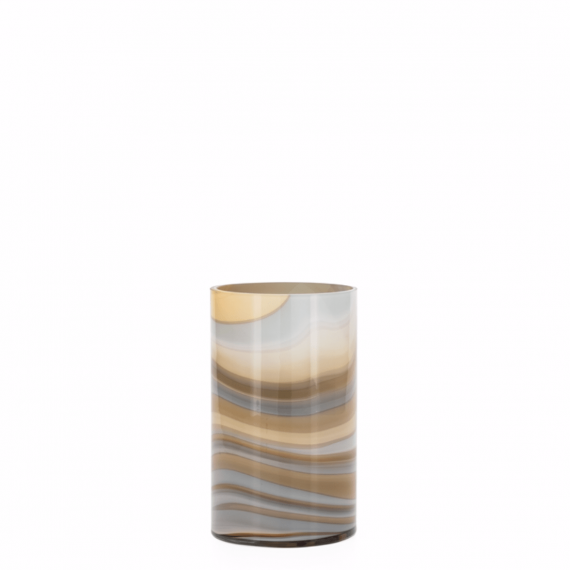 Mesa Marbled Swirl 8 Vase – Amber and Smoke