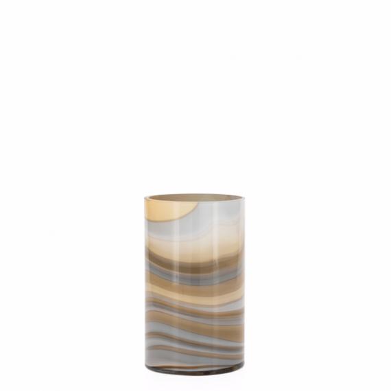 Mesa Marbled Swirl 8 Vase – Amber and Smoke