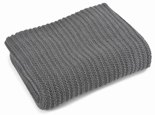 Nate Charcoal Cotton Throw