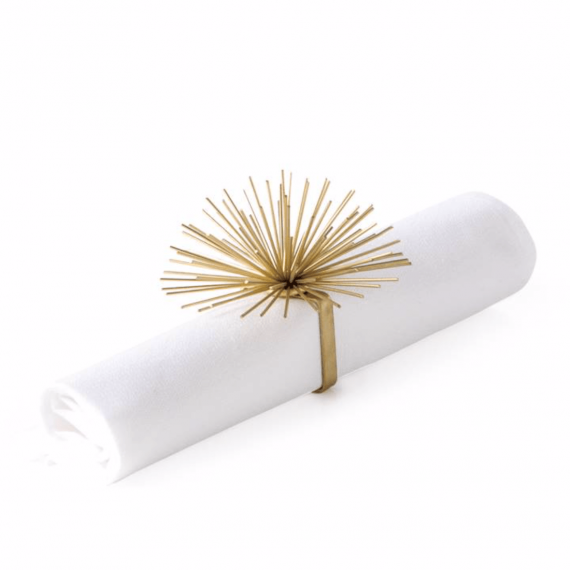 Spike Pod Napkin Ring -Gold