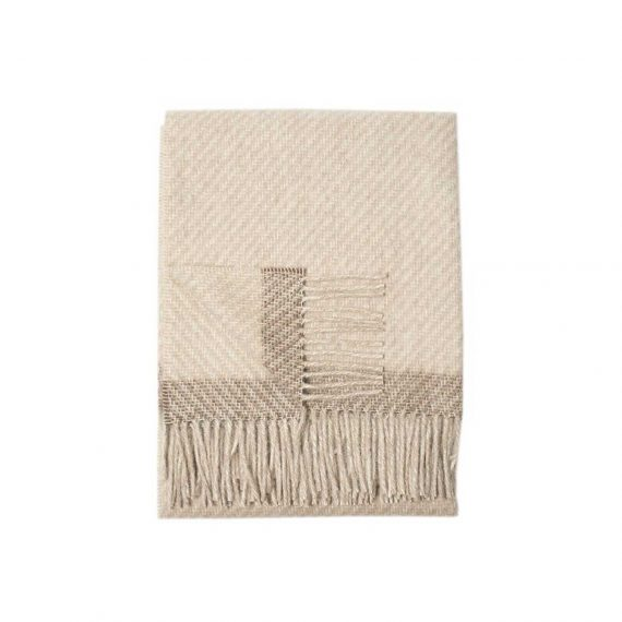 Kilarney-Throw-Blanket—Oatmeal_Taupe-Stripe